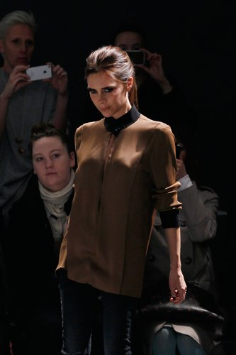 Victoria Beckham walked the runway after her successful NYC show in February.