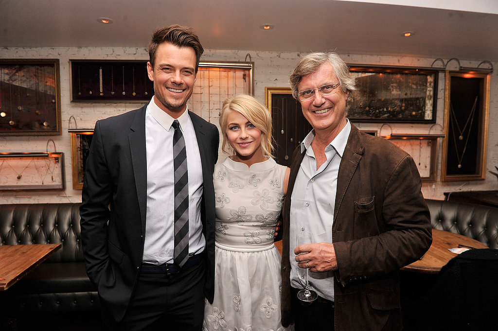 Julianne Hough and Josh Duhamel chatted with director Lasse Hallström.