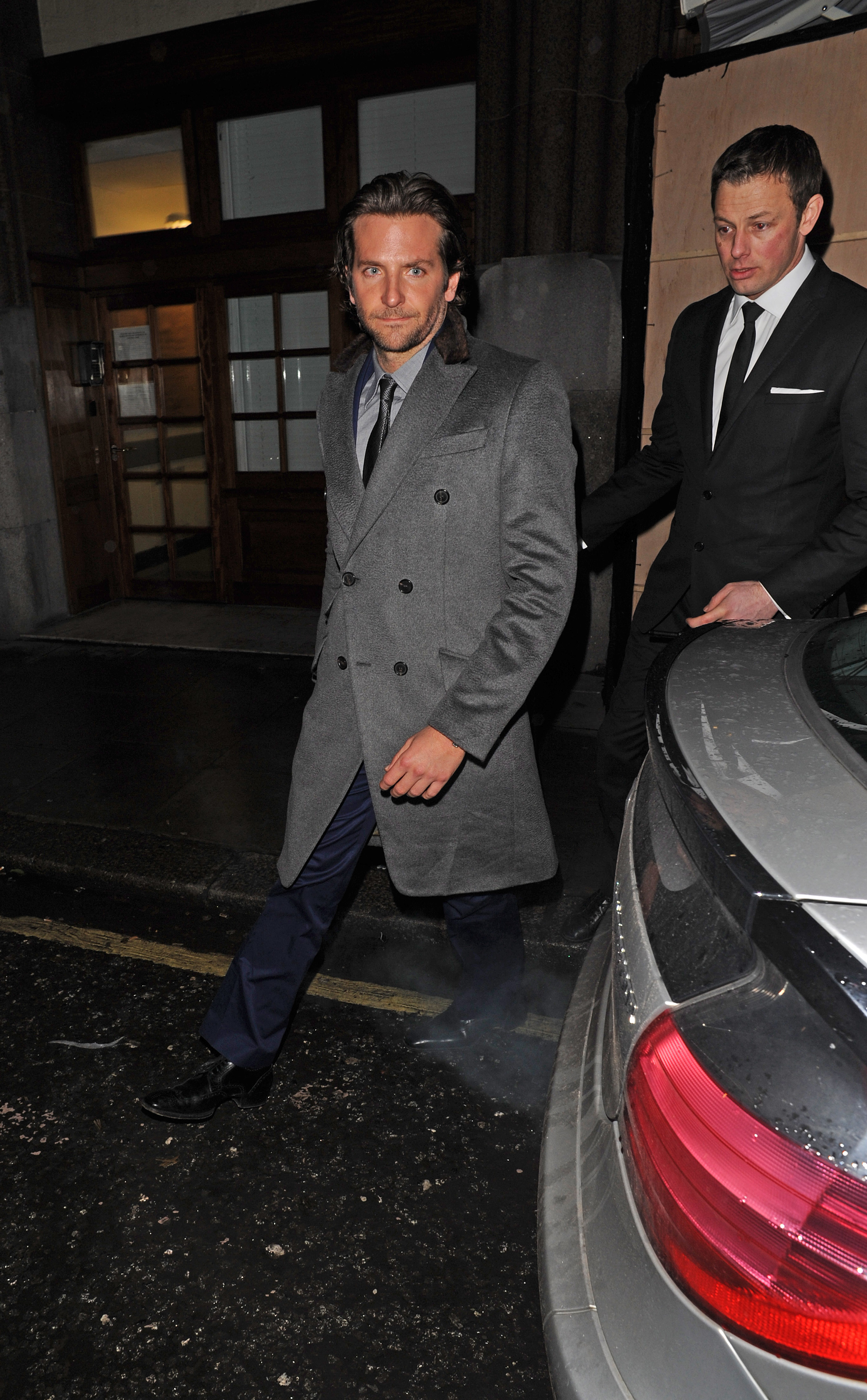 Bradley Cooper headed back to his London hotel.