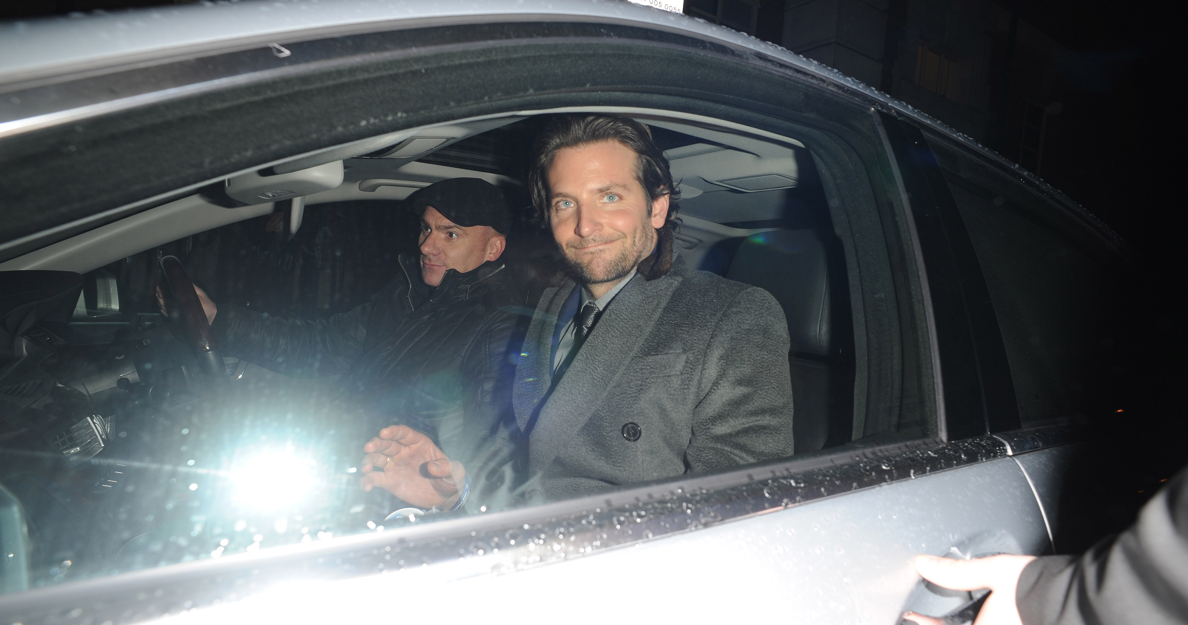 Bradley Cooper hopped into the awaiting car.