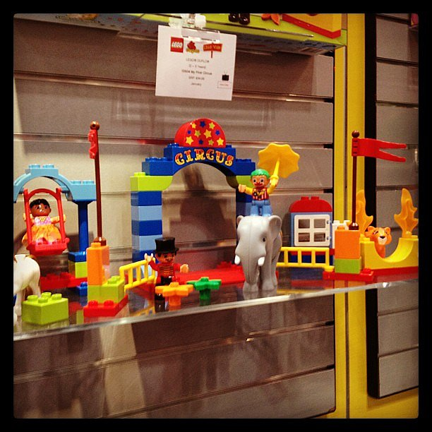 Lego will now introduce even younger tots — 18 months old — to the Duplo collection with uncomplicated play kits, including My First Circus.
