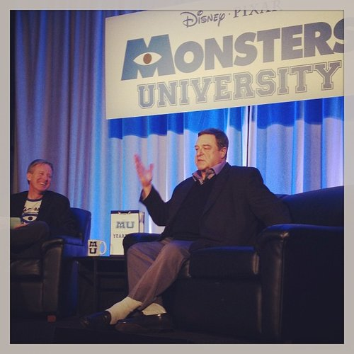 John Goodman reprises his role as James P. Sullivan in the upcoming Monsters University. He presented a new clip from the film.