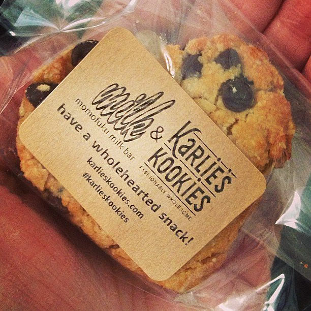 Model Karlie Kloss teamed up with Momofuku Milk Bar to provide some sweet treats backstage at Michael Kors.