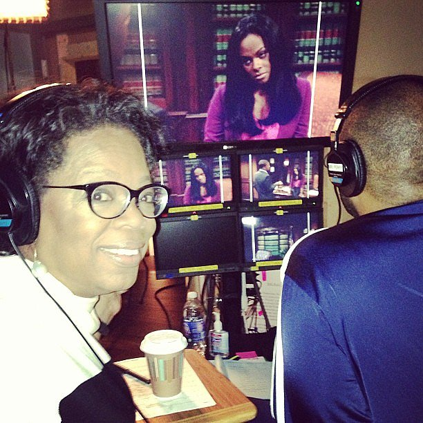 Oprah Winfrey shared a photo from the set of Tyler Perry's new movie. Source: Instagram user oprah
