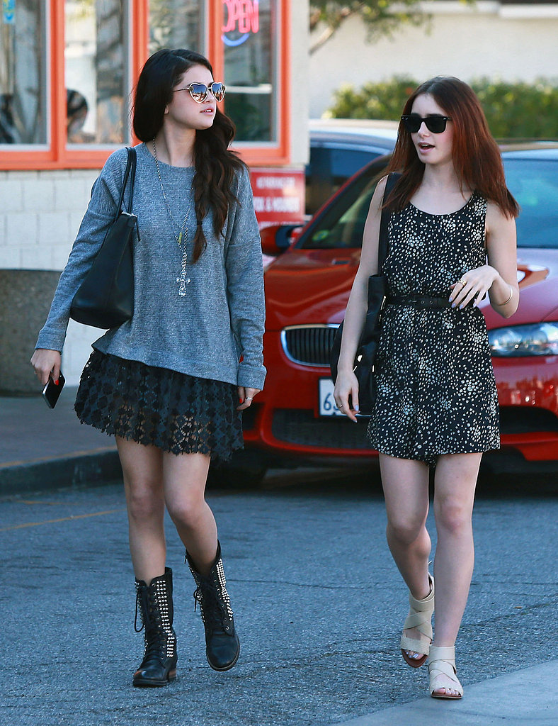 Selena Gomez Meets Lily Collins For Sushi With a Side of Girl Talk