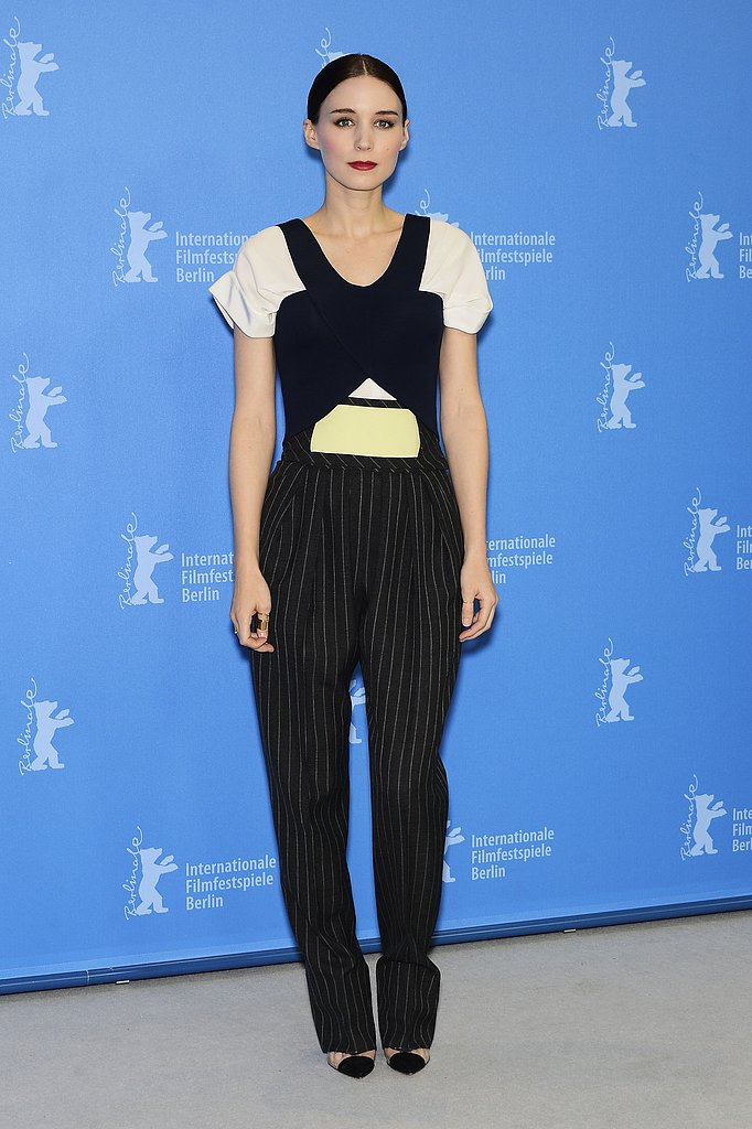 At the Berlinale International Film Festival in Berlin, Rooney Mara ditched a dress for a Balenciaga jumpsuit.