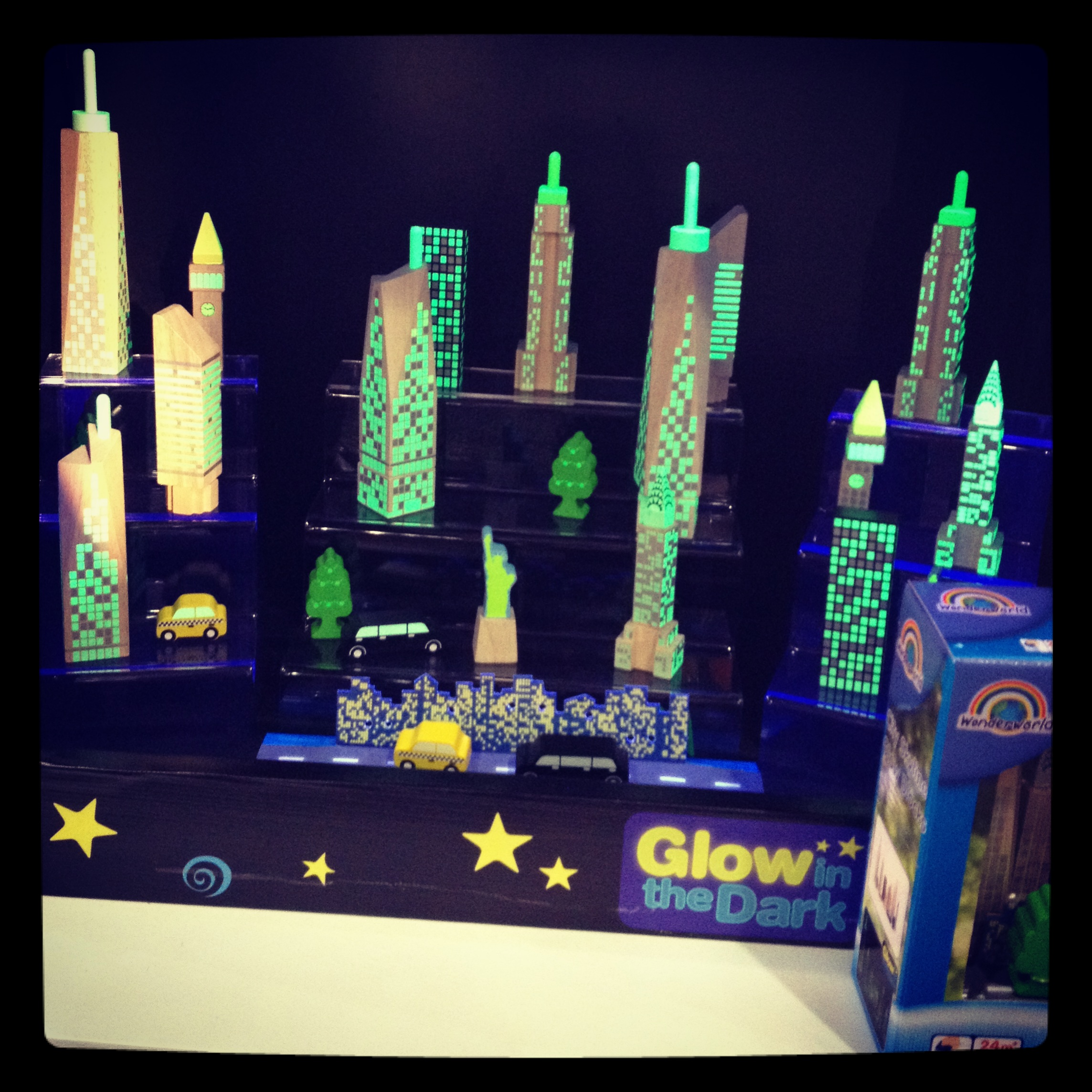 Wonderworld's Glow in the Dark city blocks were a fun find — and are made from eco-friendly rubberwood, too!