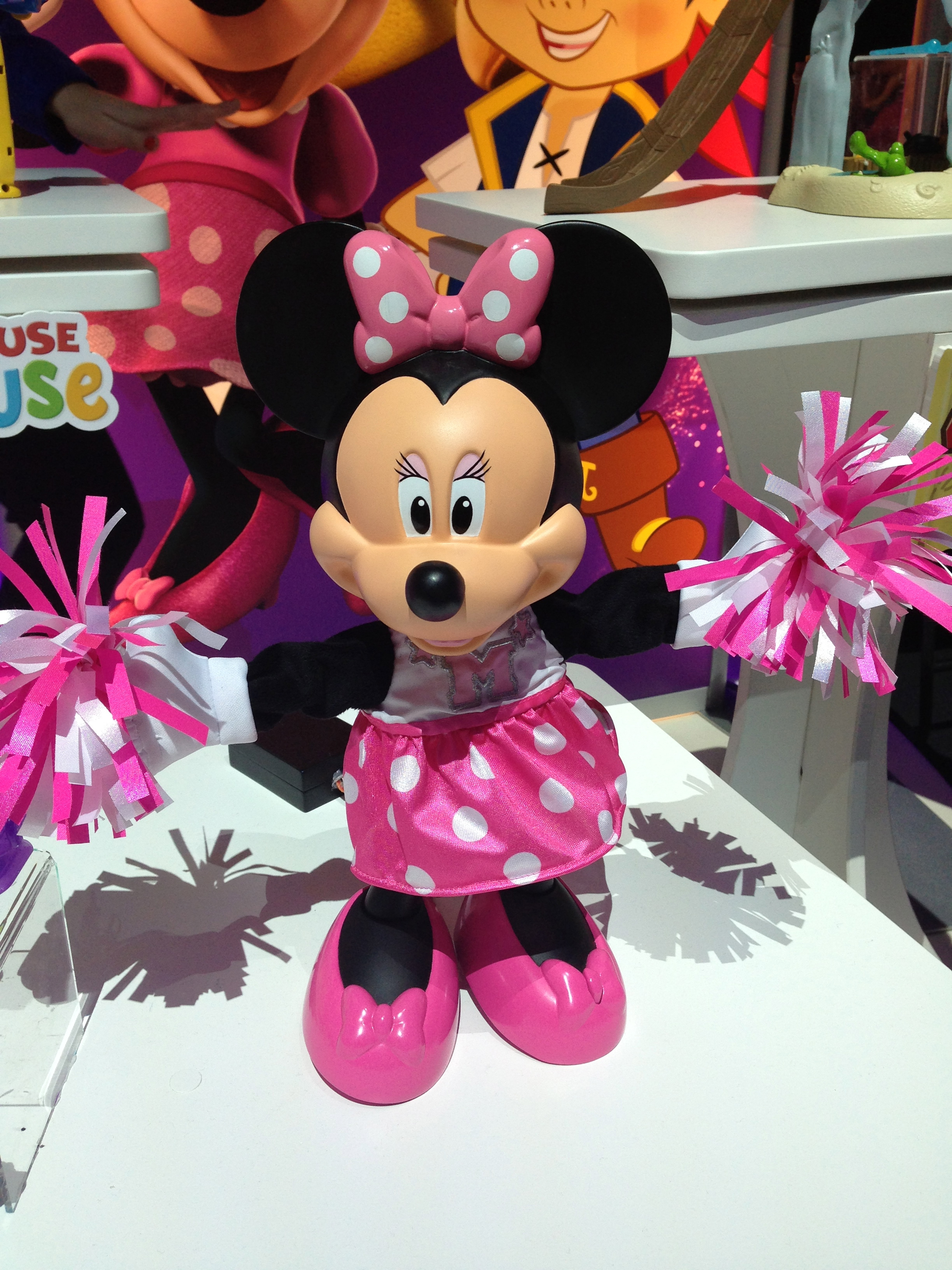 Mattel's Minnie Mouse line is expanding with a cheerleader Minnie.