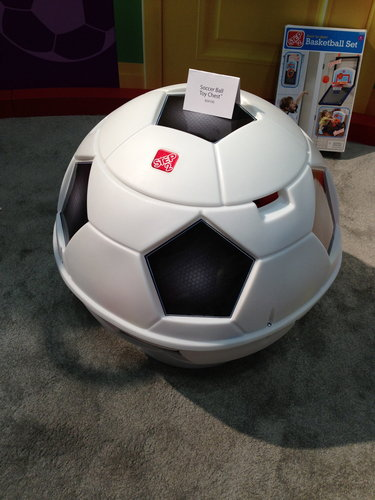 Step2's soccer-ball storage unit makes cleanup fun and would be equally at home in the garage or your little one's bedroom.