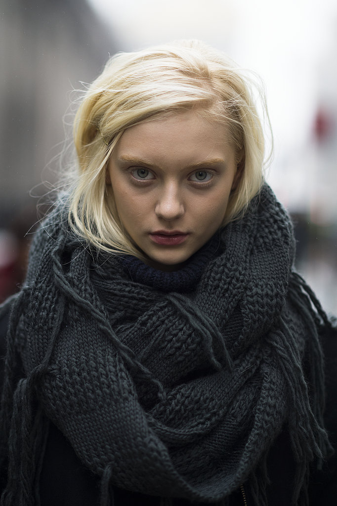 Model Nastya Kusakina worked the lived-in lipstick look flawlessly. Source: Le 21ème | Adam Katz Sinding