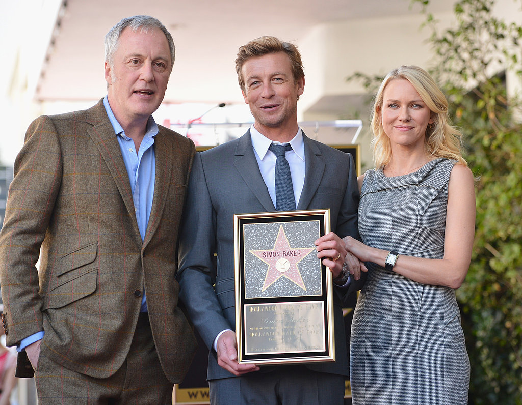 Naomi Watts Supports Fellow Aussie Simon Baker on the Walk of Fame