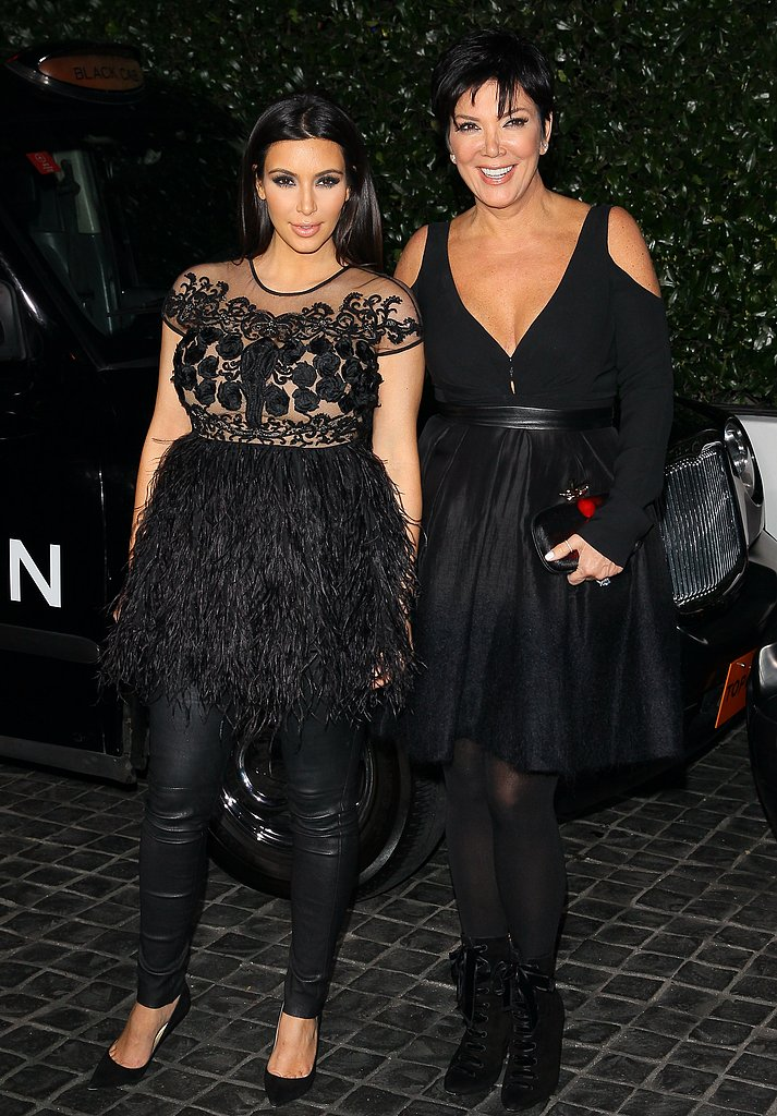 Kim Kardashian arrived with Kris Jenner.