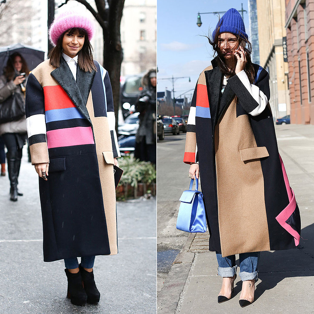 Céline Fall 2012 Colorblocked Coat