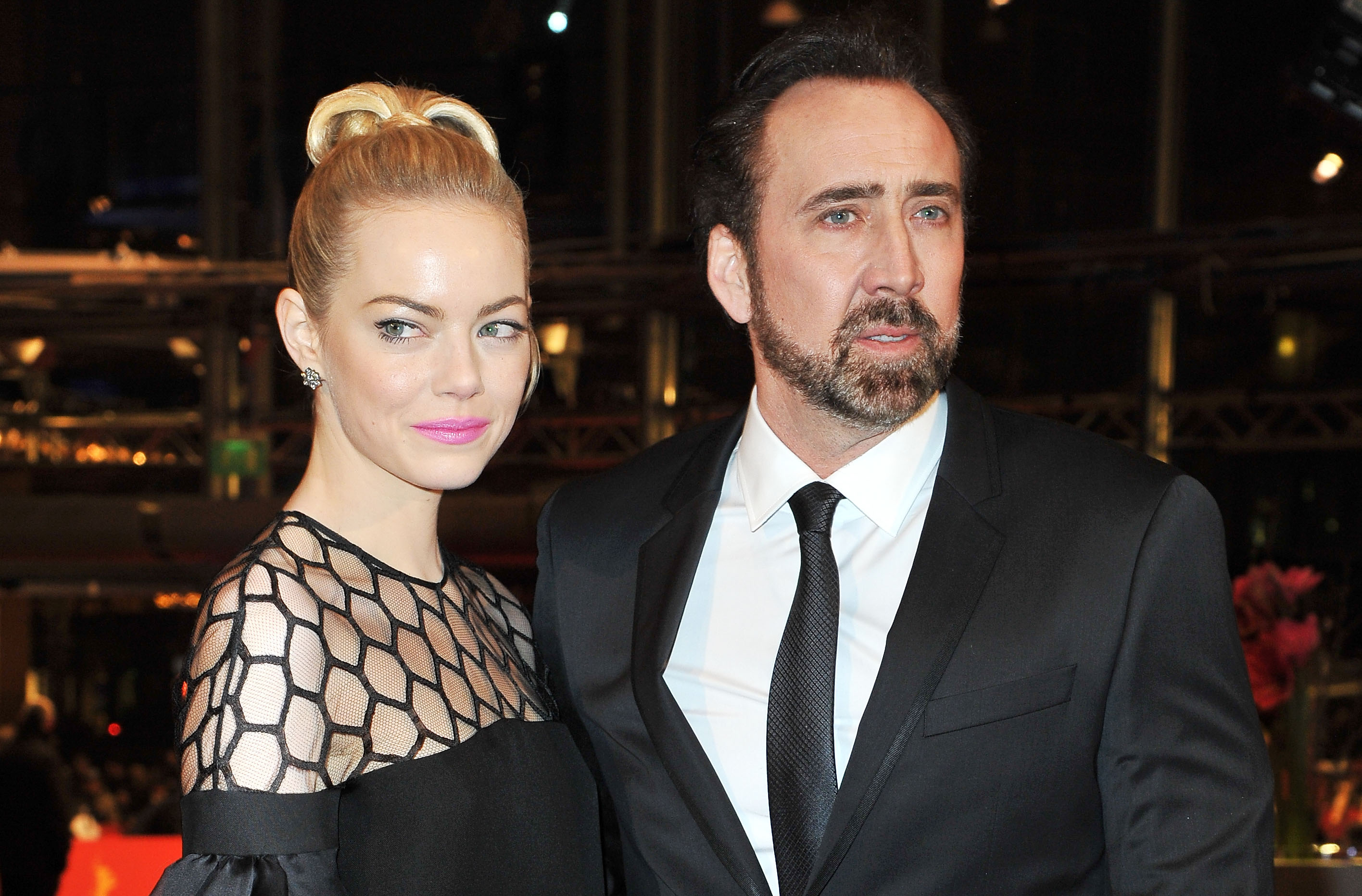Emma Stone Takes The Croods to Berlin With Nicolas Cage