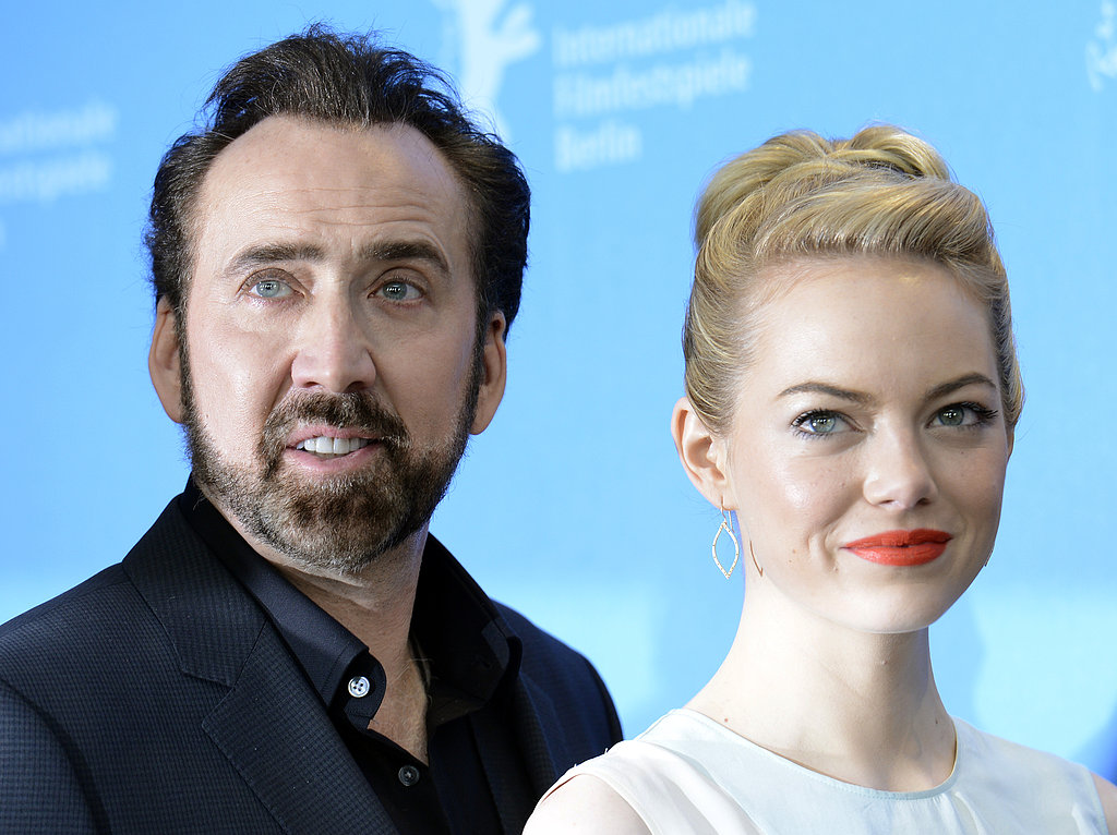 Nicolas Cage and Emma Stone promoted The Croods in Berlin.