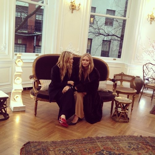 The Olsens posed at The Row's Fall '13 presentation.