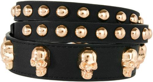 ASOS Skull And Stud Skinny Waist Belt