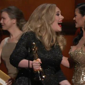 Adele Winning Oscar Speech GIF