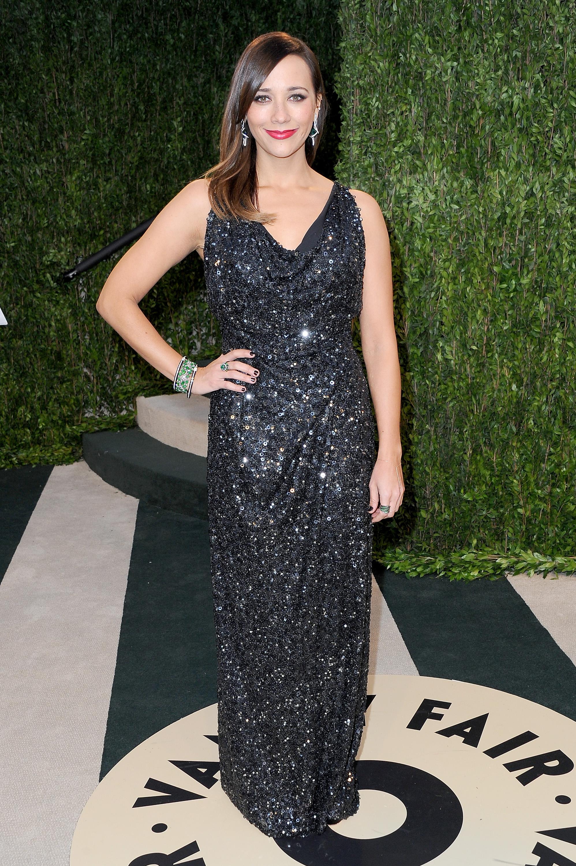 Rashida Jones arrived at the Vanity Fair Oscar Party on Sunday night.