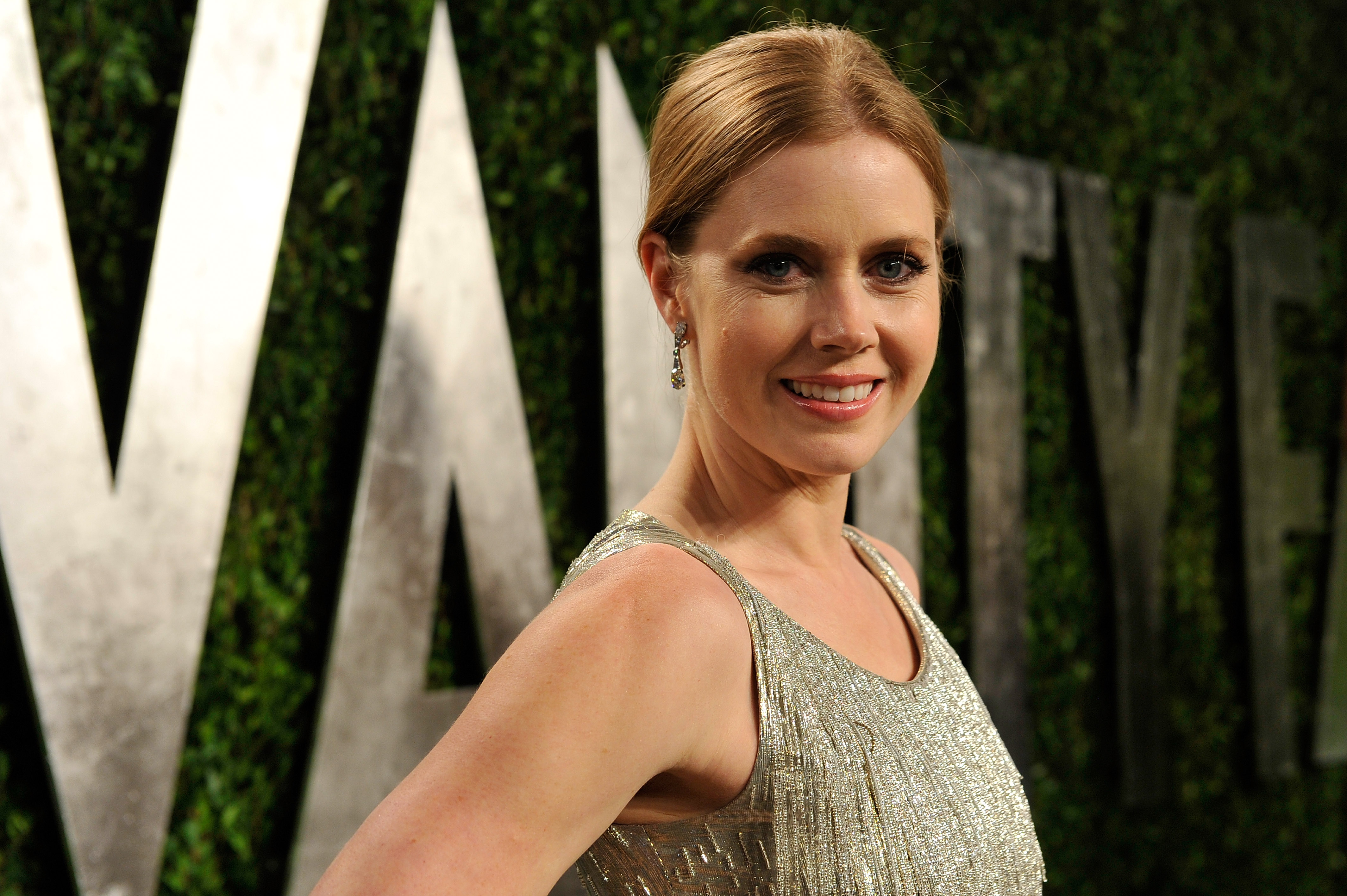 Amy Adams arrived at the Vanity Fair Oscar party on Sunday night.