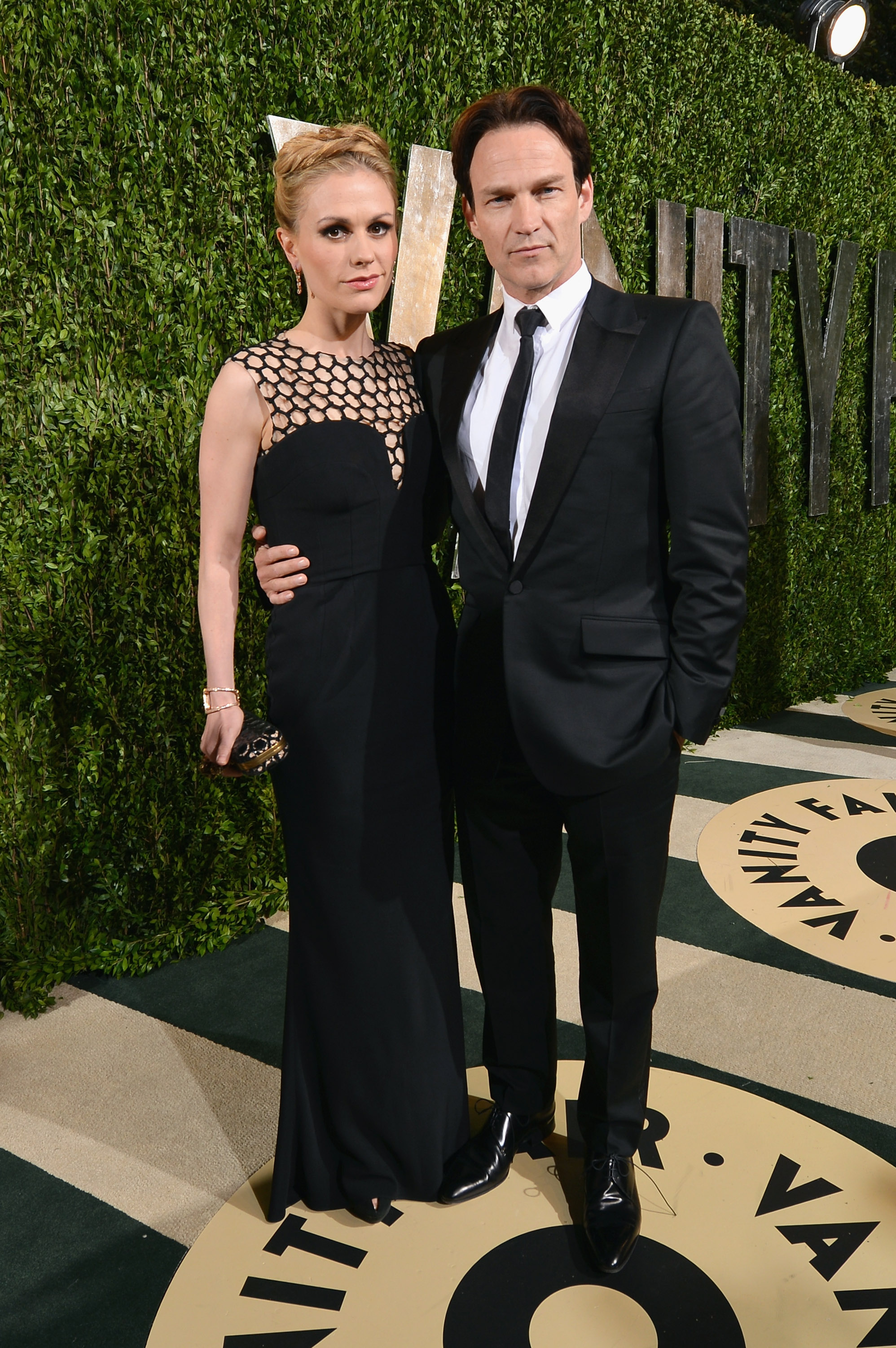 Anna Paquin and Stephen Moyer arrived at the Vanity Fair Oscar party on Sunday night.