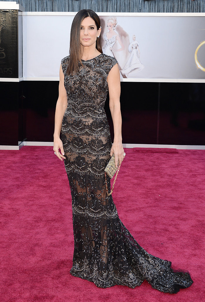 Sandra Bullock stepped out in Elie Saab for the Oscars.