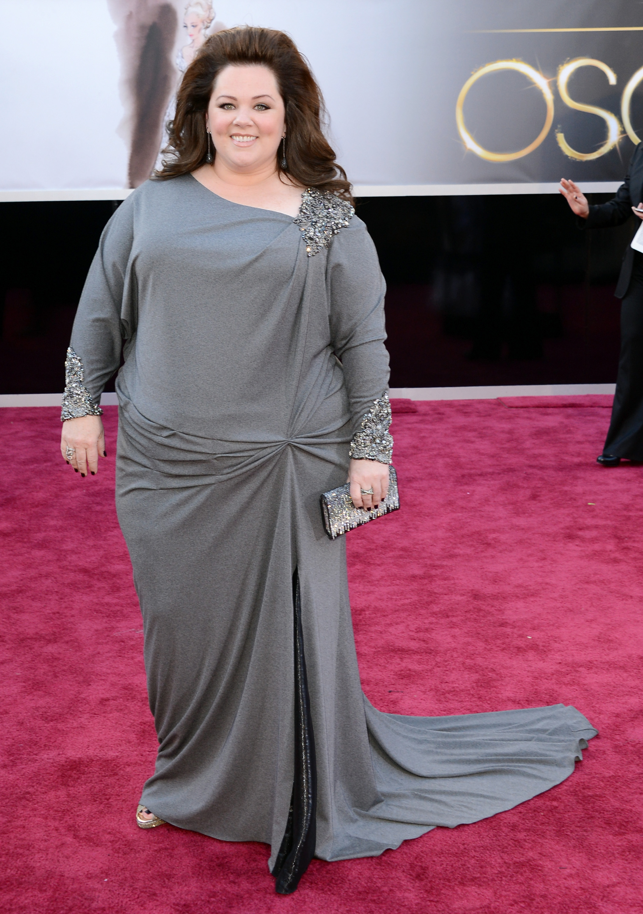 Melissa McCarthy on the red carpet at the Oscars 2013.