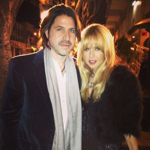 Rachel Zoe and Rodger Berman snapped a photo during Saturday's Chanel pre-Oscars party. Source: Instagram user rachelzoe