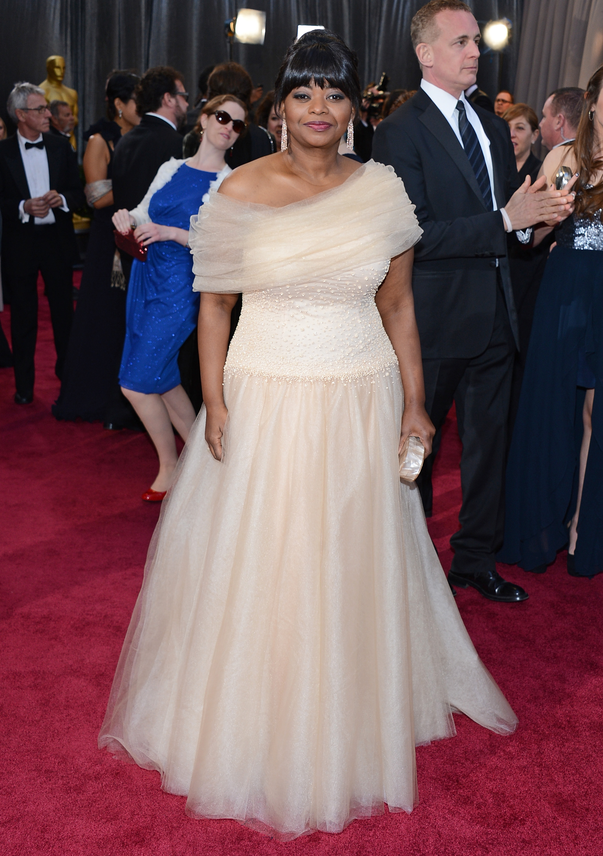 Octavia Spencer on the red carpet at the Oscars 2013.