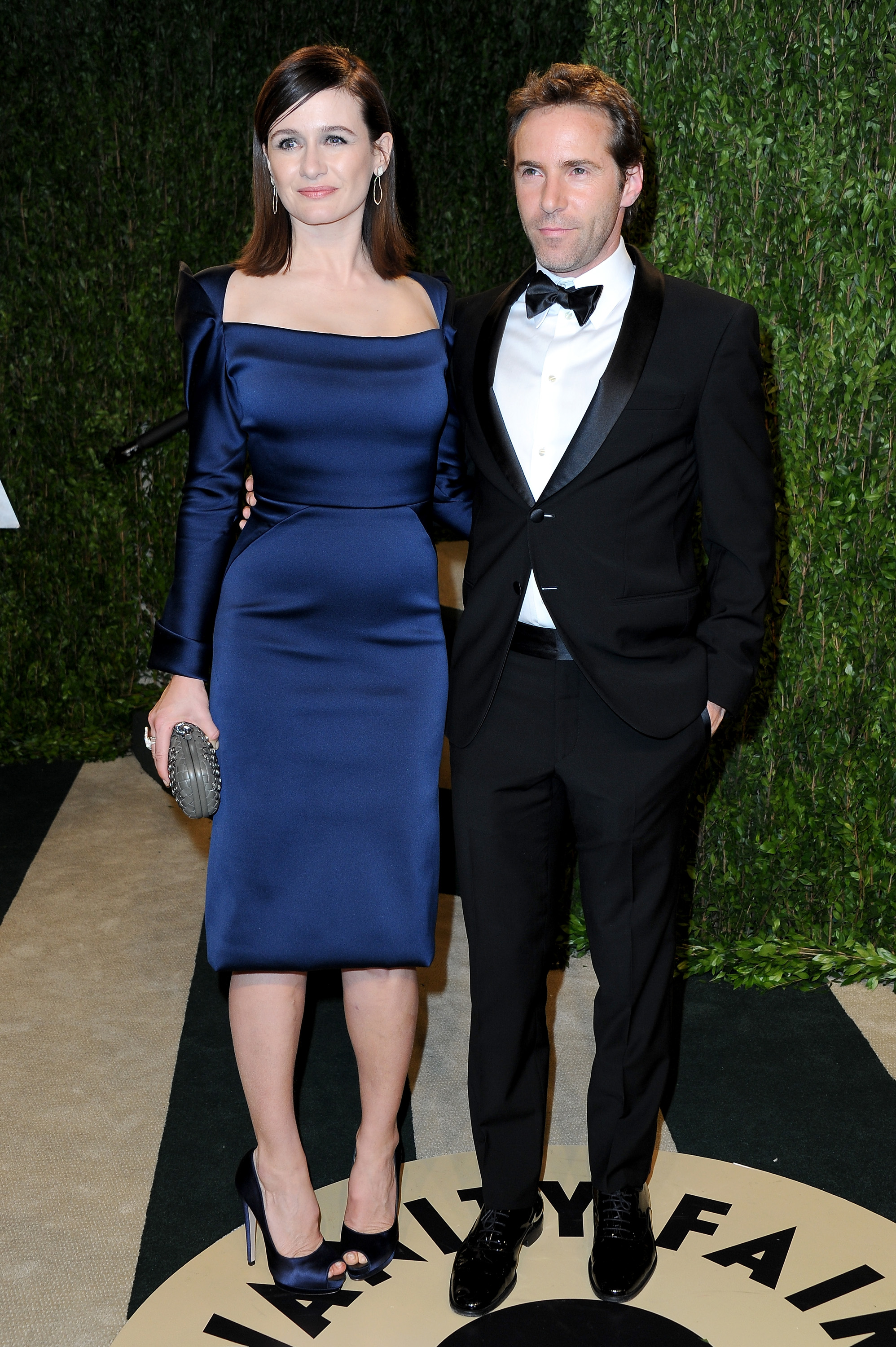 Emily Mortimer and Alessandro Nivola arrived at the Vanity Fair Oscar party on Sunday n