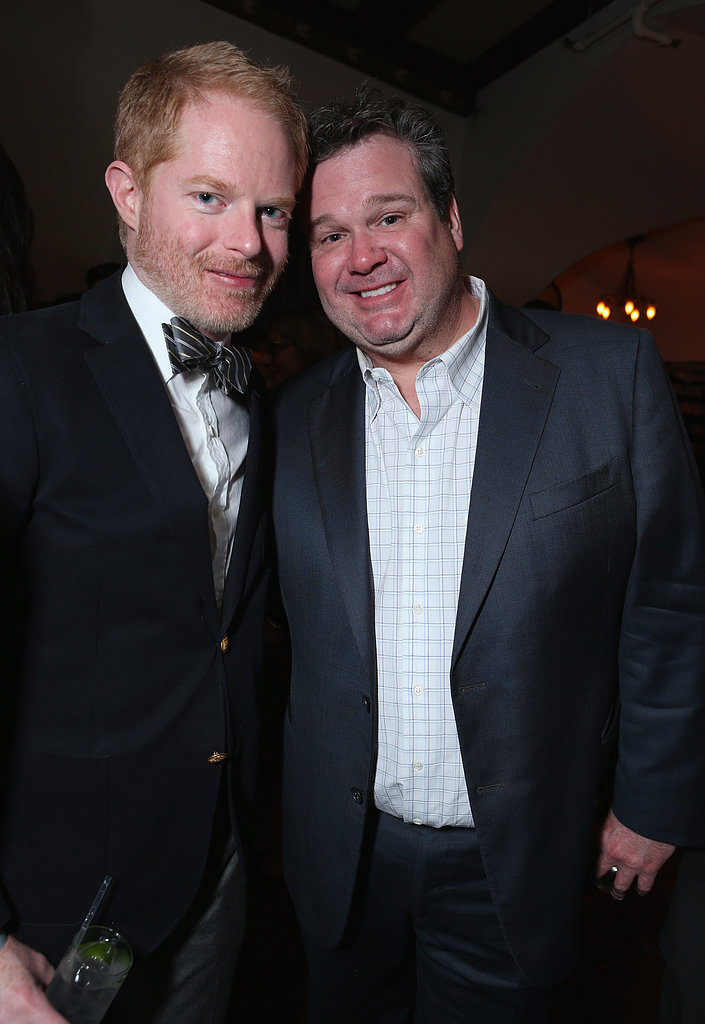 Jesse Tyler Ferguson smiled with costar Eric Stonestreet.