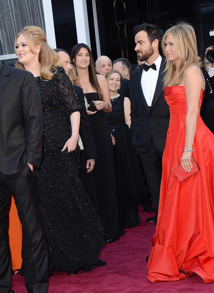 Jennifer Aniston and Justin Theroux were star-struck by Adele.