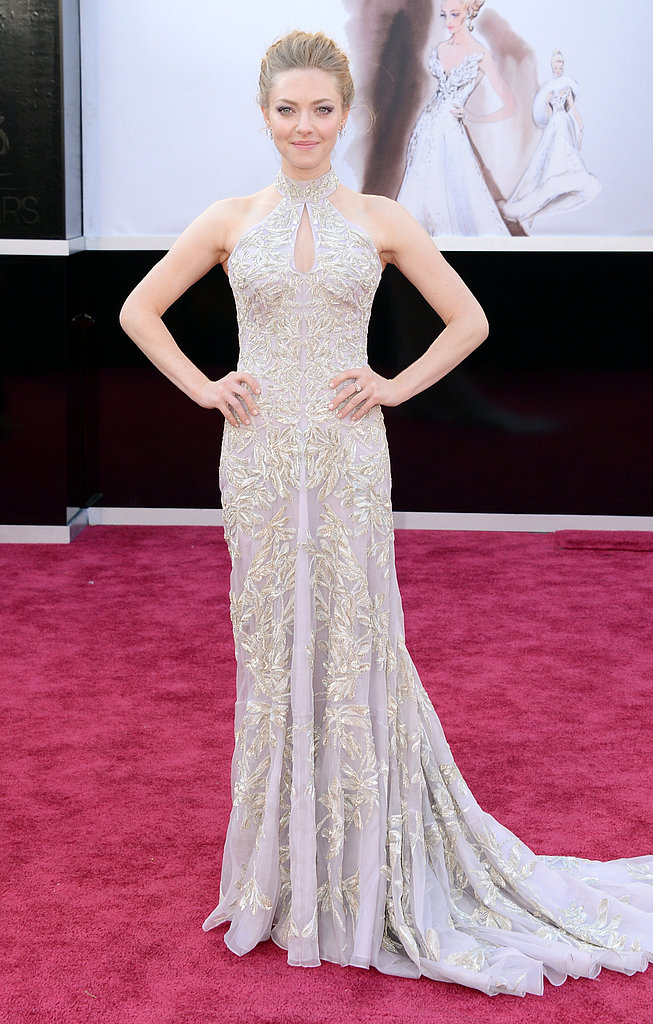 Amanda Seyfried wore an embellished Alexander McQueen gown to the Oscars.