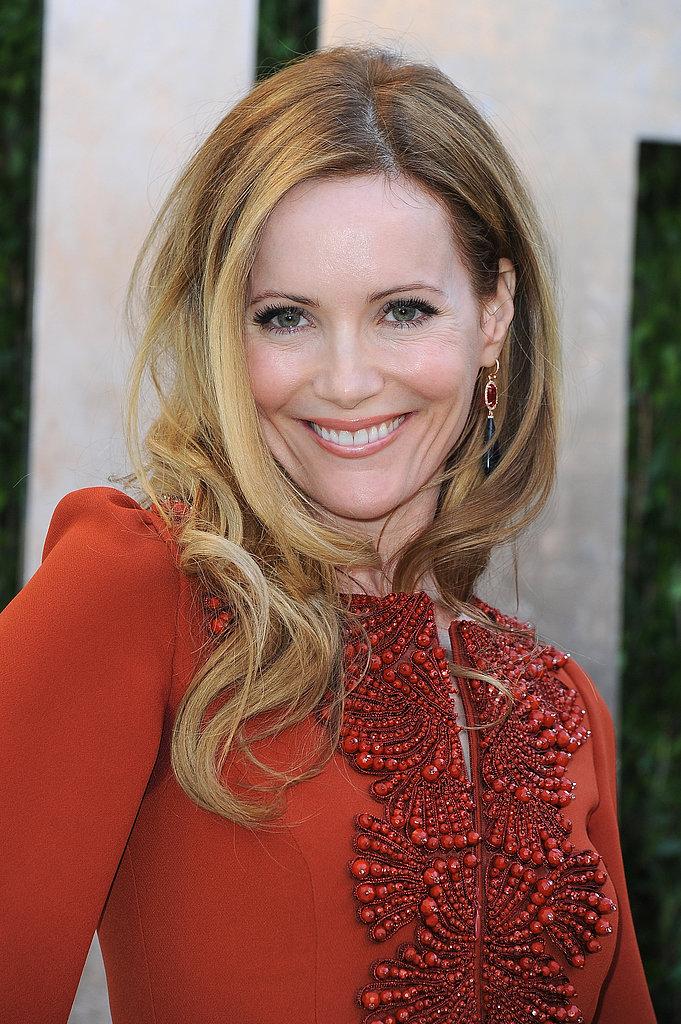Leslie Mann arrived at the Vanity Fair Oscar party on Sunday night.