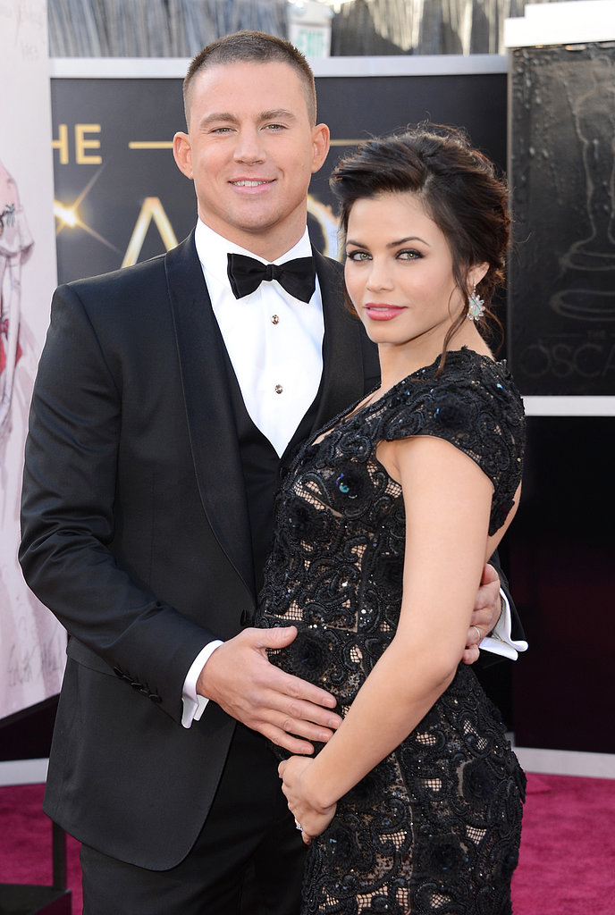 Channing Tatum and Pregnant Jenna Dewan Stun on the Oscars Carpet