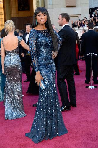 Jennifer Hudson on the red carpet at the Oscars 2013.
