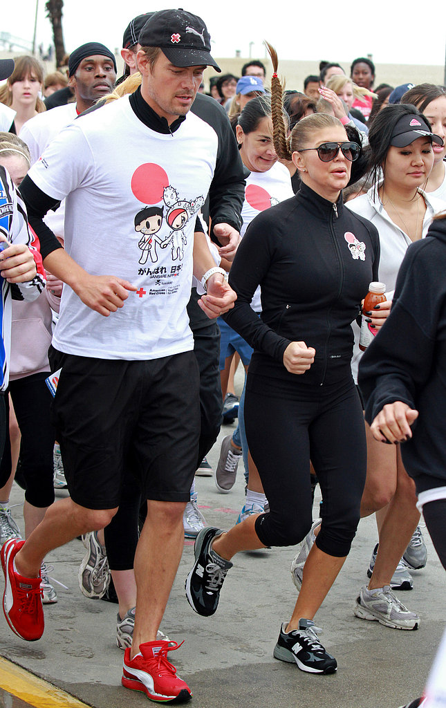 Josh Duhamel and Fergie jogged for the American Red Cross Youth Run in LA in March 2011.