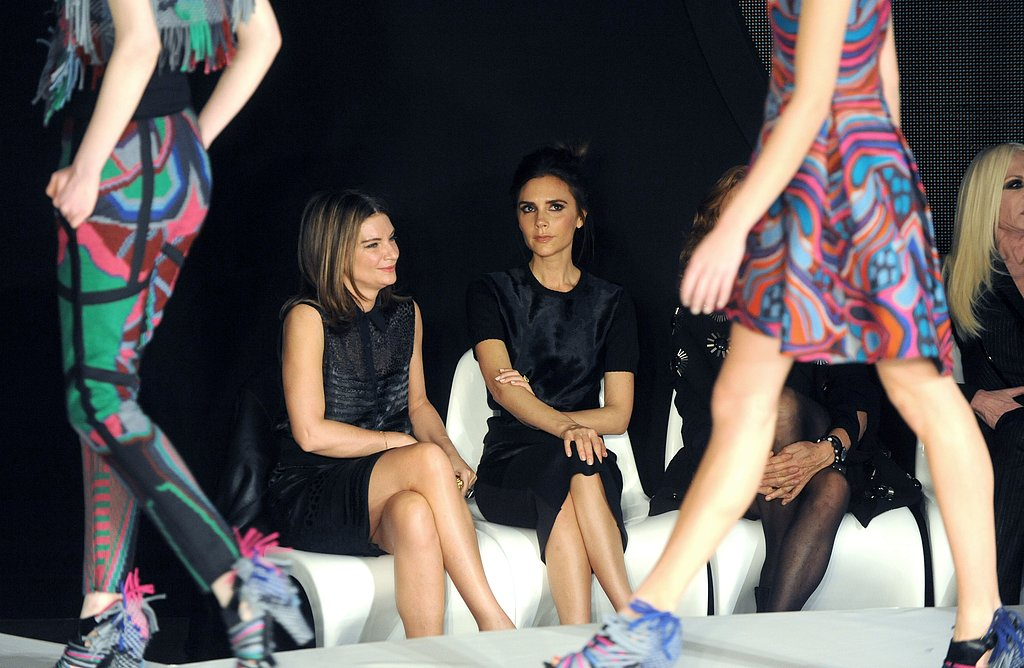 Natalie Massenet and Victoria Beckham at the International Woolmark Prize
