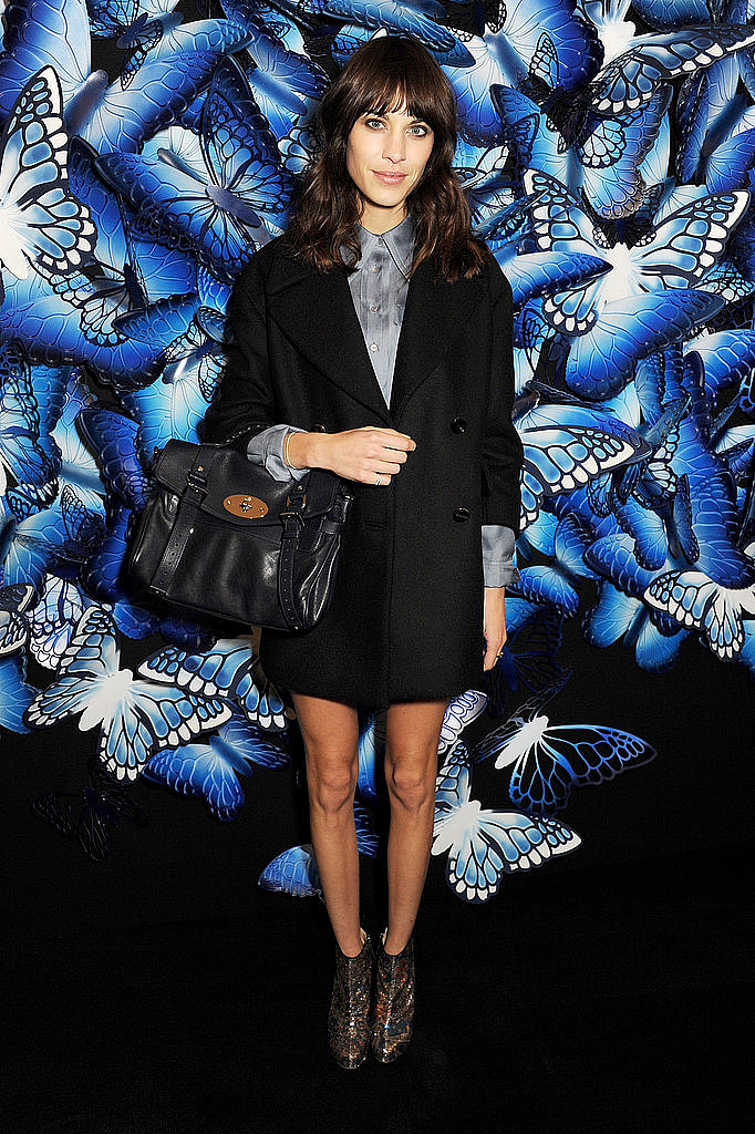 Alexa Chung at Mulberry