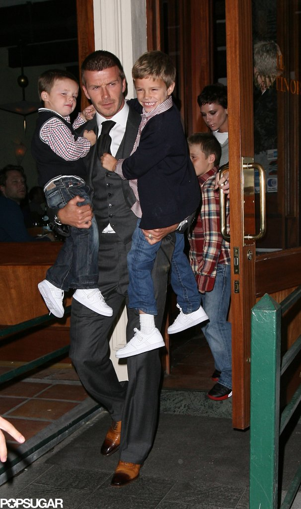 The Beckhams dressed up to dine out together in NYC in November 2008.