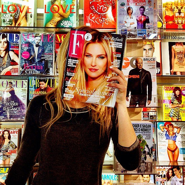 Bar Refaeli showed off her latest magazine cover. Source: Instagram user barrefaeli