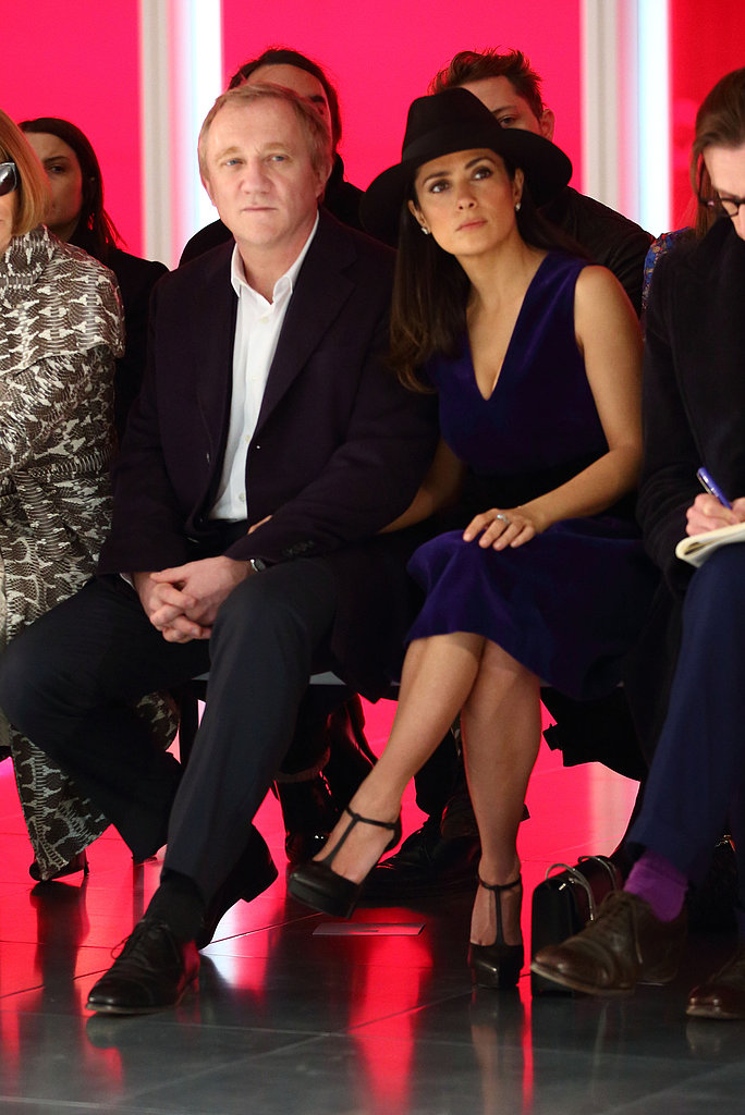 Salma Hayek sat in the front row at the Christopher Kane fashion show in February with François-Henri Pinault at London Fashion Week.