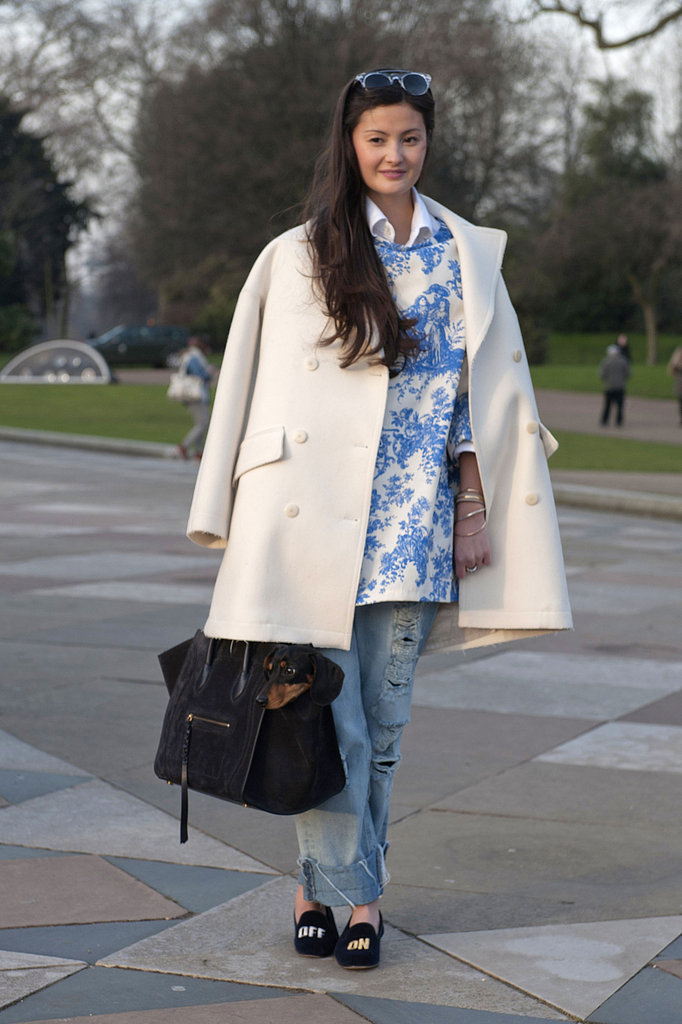 A gorgeous print tunic became the focus of this high-low mix.