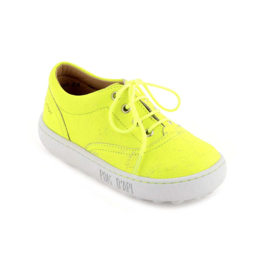 Pom D'Api Fluorescent Leather Trainers