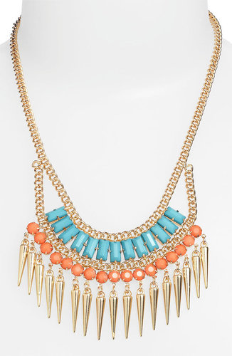 Stephan & Co. Exotic Spike Statement Necklace