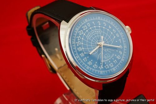 Russian vintage scientific watch Polar bear CCCP 24H