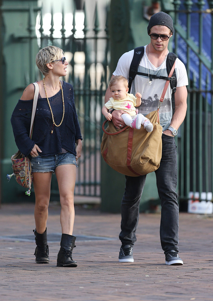 Family photo of the actor, married to Elsa Pataky , famous for Blackhat & In the Heart of the Sea.