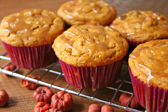 Gluten-Free, Vegan Pumpkin Chocolate Chip Cupcakes With Cinnamon Glaze