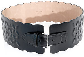 Azzedine Alaia Petal embossed leather belt