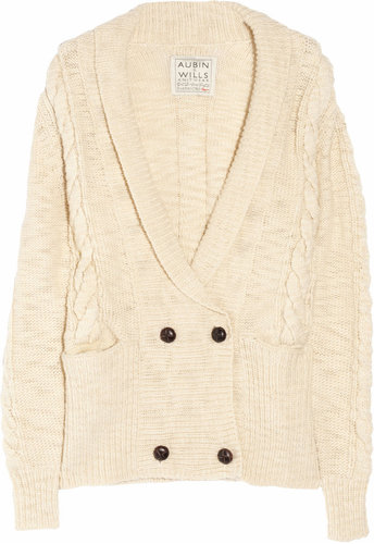 Aubin & Wills Sheepmoor cable-knit wool cardigan